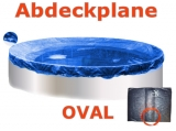 Ovalbecken Rot 7,4 x 3,5 x 1,25 m Komplettset