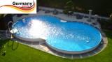 Pool achtform 855 x 500 x 120 Achtform Pool Brick Ziegel