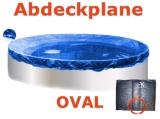 Ovalbecken Elfenbein 7,0 x 4,2 x 1,25 m Komplettset