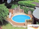 Poolbecken 4,00 x 0,90 m Weiss