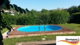 Ovalpool Palisander 740 x 350 x 120 cm