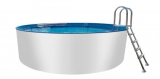 Rundpool-Alu 5,50 x 1,50 m Aluminium-Swimmingpool