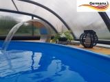 Ovalpool Elfenbein 737 x 360 x 125 cm