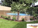 Gartenpool 800 x 125 cm Komplettset