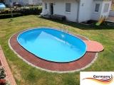 Schwimmbecken 8,70 x 4,00 x 1,35 m