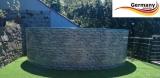 Poolset 3,5 x 1,2 m Stahlwandbecken Stone Pools Steinoptik