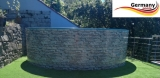 Poolset 4,6 x 1,2 m Stahlwandbecken Stone Pools Steinoptik
