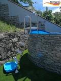 Stone Pool 4,50 x 1,20 Stahlwandpool Stein Optik Aufstellpool