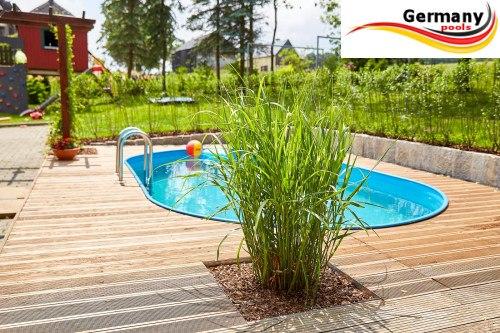 Pools pool net for Stahlwandbecken steinoptik